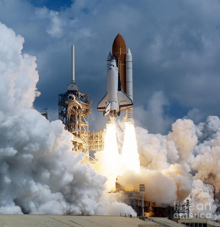 Color Image Photograph - Space Shuttle Launching by Stocktrek Images