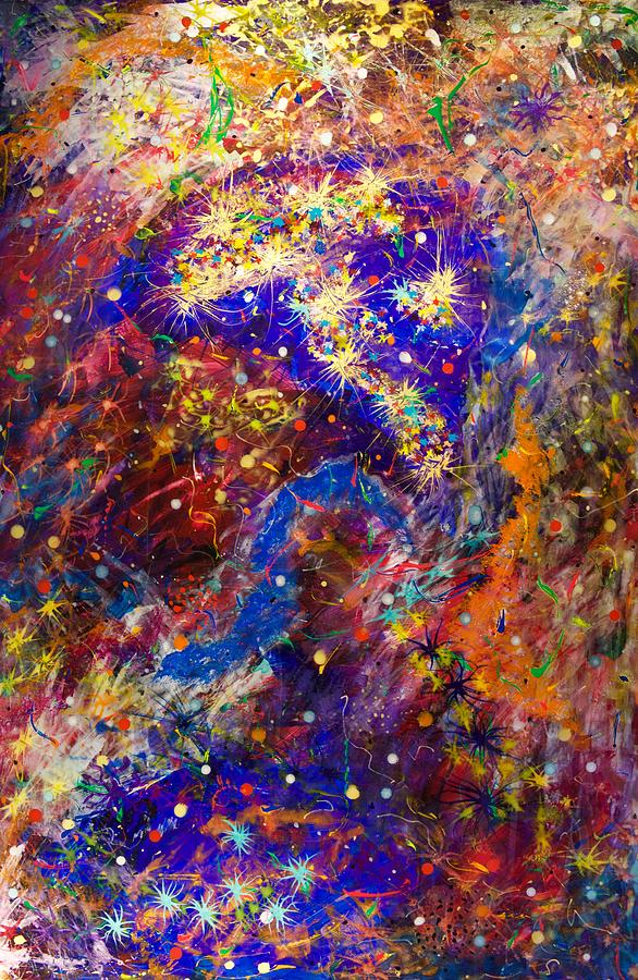 Acrylic Painting - Space Stars by Patrick OLeary