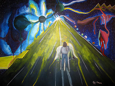 Space-time Road Painting by Jody Brusca