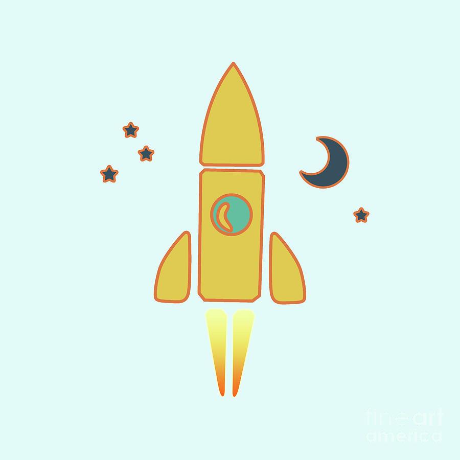 Spaceship Digital Art by Gaspar Avila