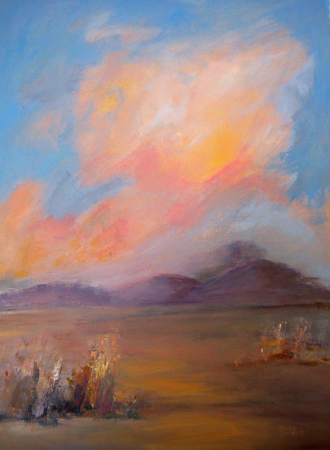 Colorado Painting - Spacious Skies by Sally Bullers