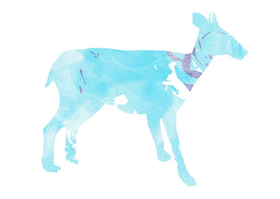 Minimal Digital Art - Spacy Deer by Poster Book