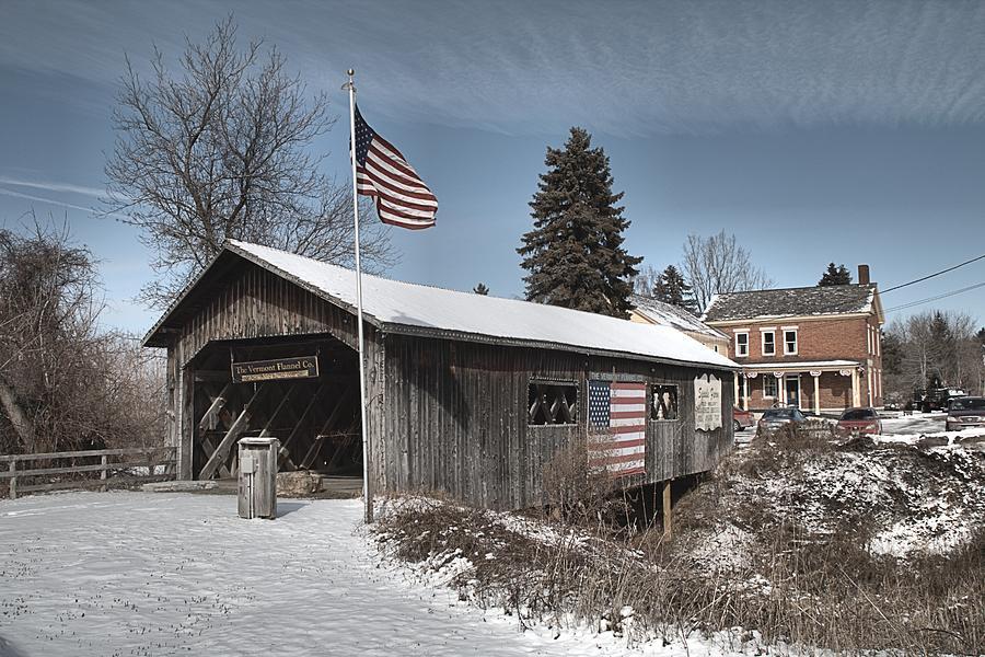 Spade Farm Covered Bridge by Wayne Toutaint