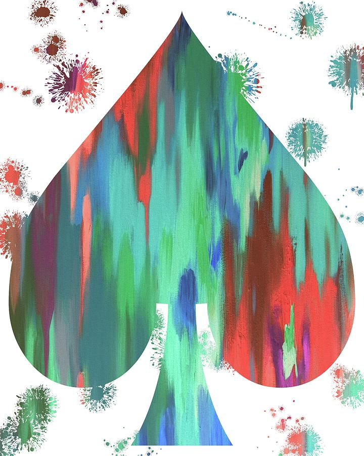 Spade Painting - Spade Paint Splatter by Dan Sproul