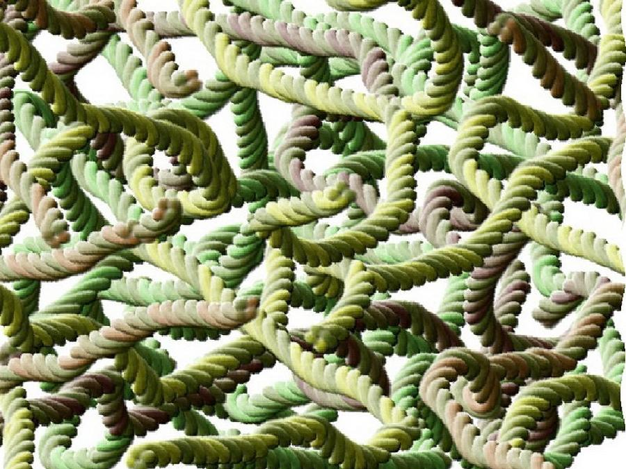 Digital Digital Art - Spaghetti by Annie Dameron