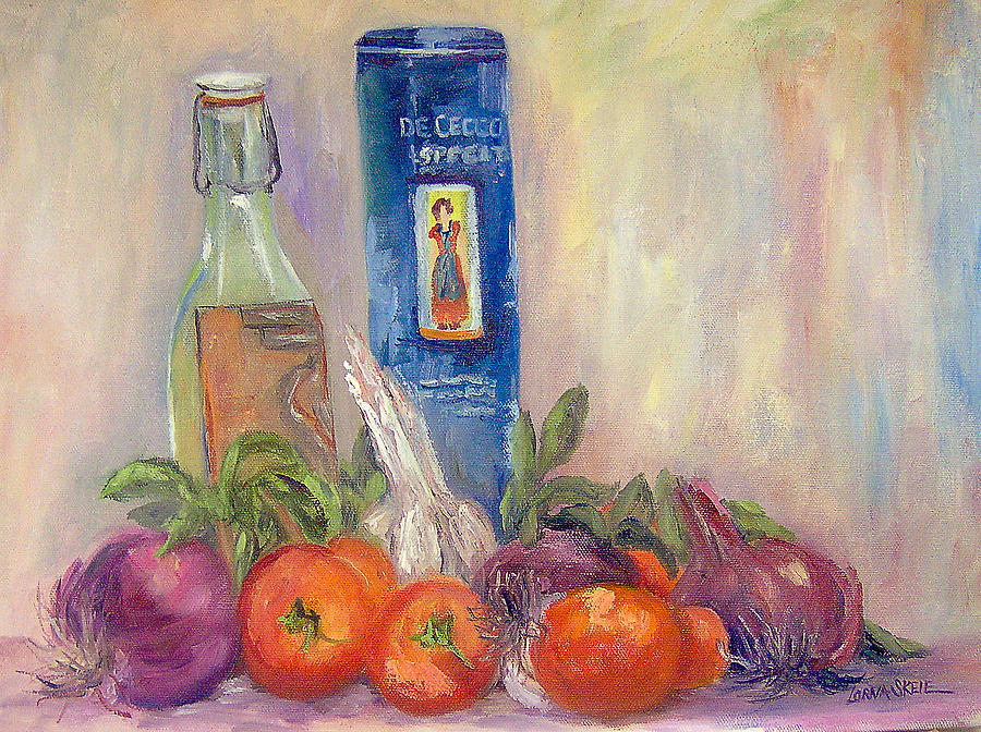 Still Life Painting - Spaghetti in the Raw by Lorna Skeie