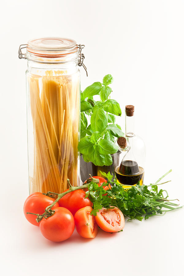 Basil Photograph - Spaghetti by Tom Gowanlock