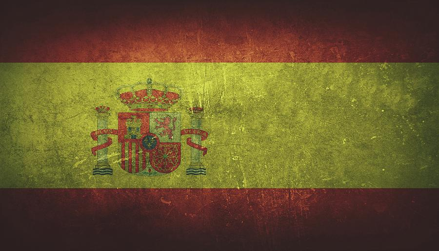Spain Painting - Spain Distressed Flag Dehner by T Shirts R Us -
