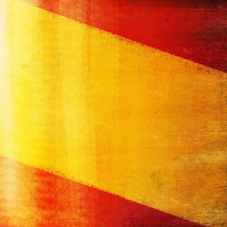 Abstract Photograph - Spain Flag by Setsiri Silapasuwanchai