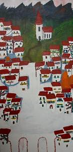 Spain Painting - Spain Unfinished As Is The Norm by Vicky D