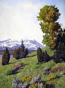 Spainsh Peaks  Painting by Scott Robertson