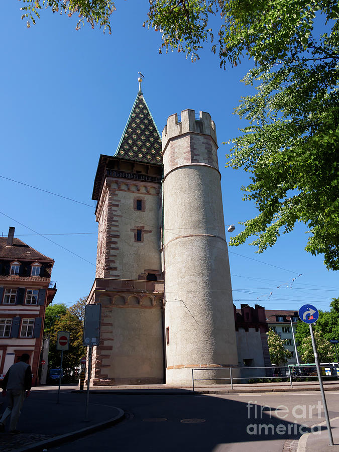 Tower Photograph - Spalentor In Basel Switzerland by Louise Heusinkveld