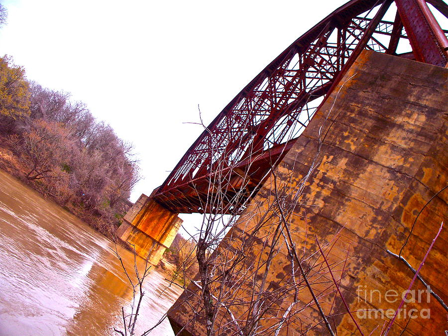 Train Photograph - Span The Brazos by Chuck Taylor