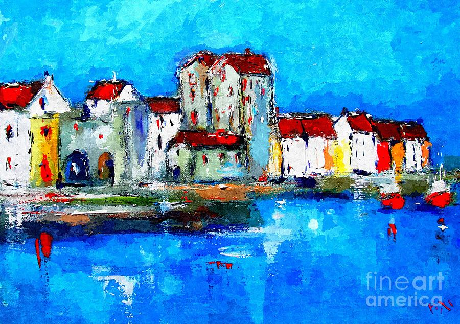 Galway Painting - Paintings Of Galway Ireland Wall Art Galway Ireland Galway  by Mary Cahalan Lee- aka PIXI