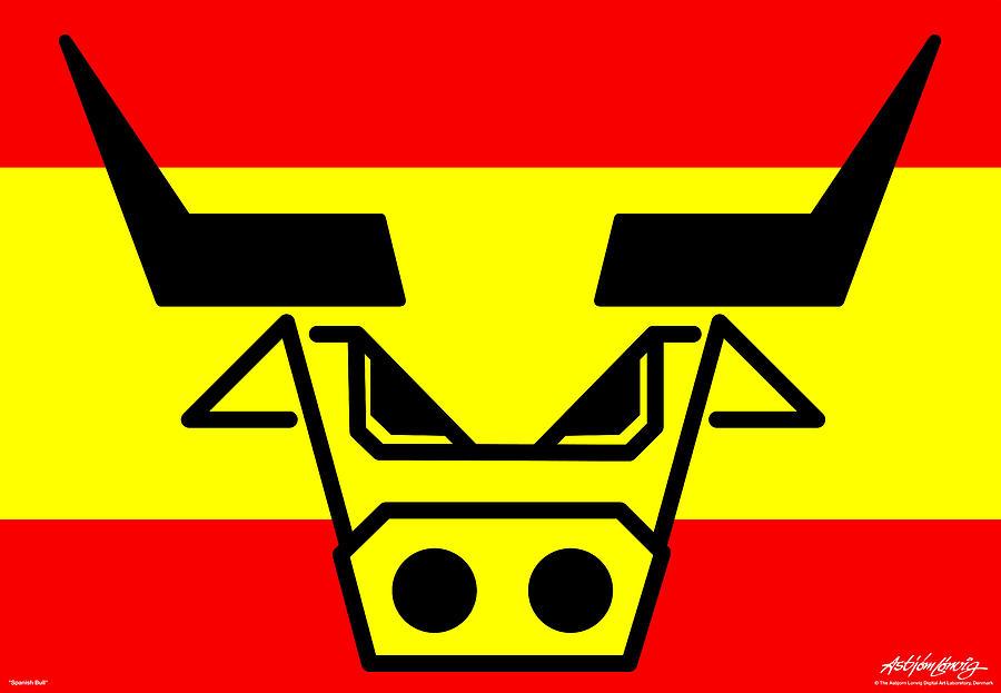 Spanish Bull Digital Art - Spanish Bull by Asbjorn Lonvig