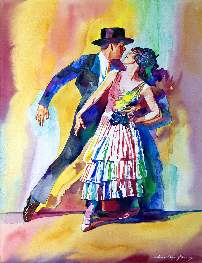 Romance Painting - Spanish Dance by David Lloyd Glover