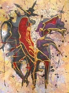 Dance Painting - Spanish Dance by Olga Dmytrenko