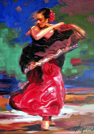 Spanish Dance Painting by Wendell Wiggins