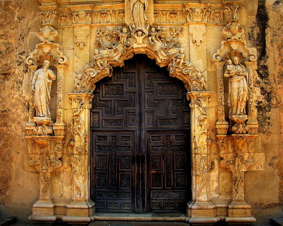 Door Photograph - Spanish Doorway by Perry Webster