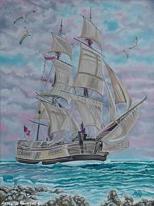 Tall Ship Painting - Spanish Galleon by Armando Bettencourt