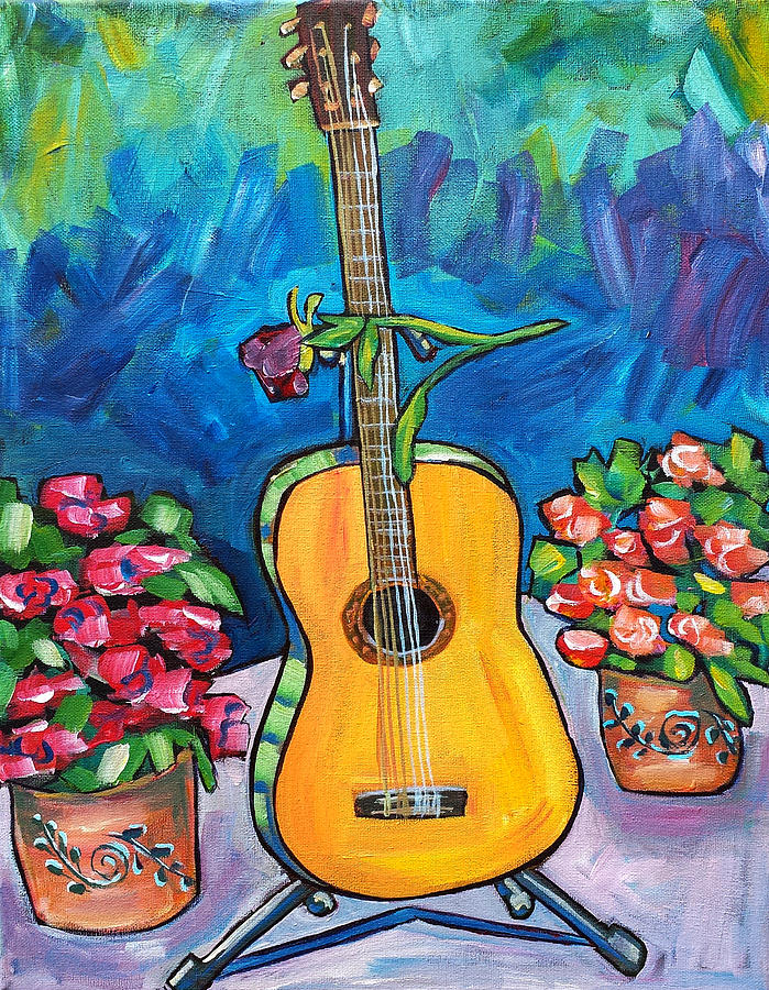 Spanish Guitar Painting By Beth Lighthouse