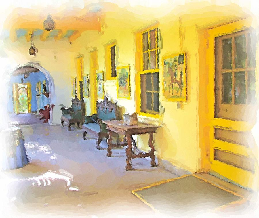 Yellow Photograph - Spanish House by Ralph Liebstein