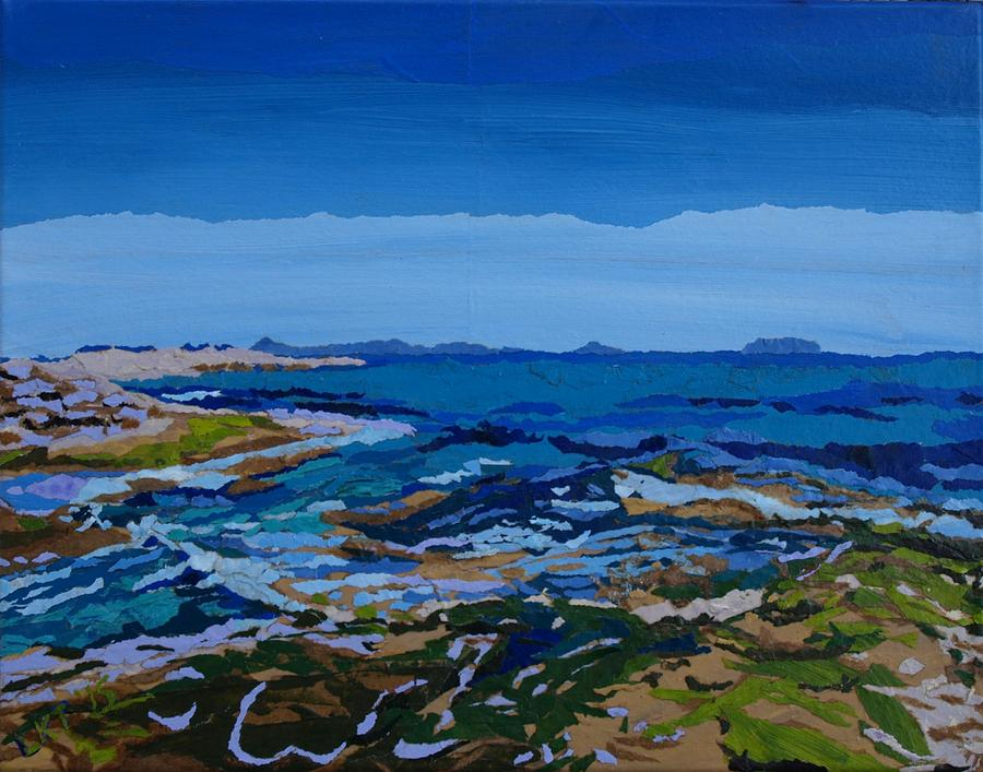 Ocean Painting - Spanish Jewels, 2 by Leah Tomaino