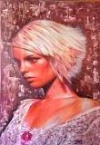 Fashion Painting - Spanish Lady  by Sam Shaker
