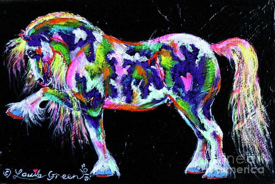 Spanish Horse Painting - Spanish Magic Cob by Louise Green