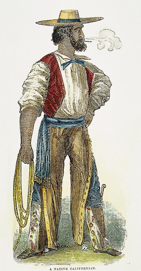1852 Photograph - Spanish Settler, 1852 by Granger