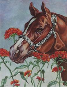 Chesnut Horse Drawing - Spanish Silver by Eden Alvernaz