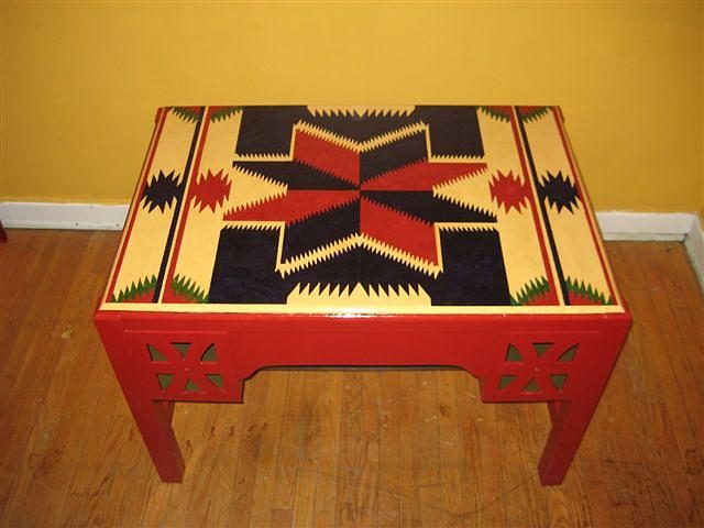 Hand Painted Furniture Mixed Media - Spanish Star by Sandra Bedgood