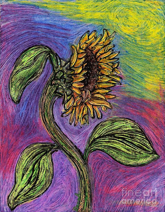 Sunflower Pastel - Spanish Sunflower by Sarah Loft