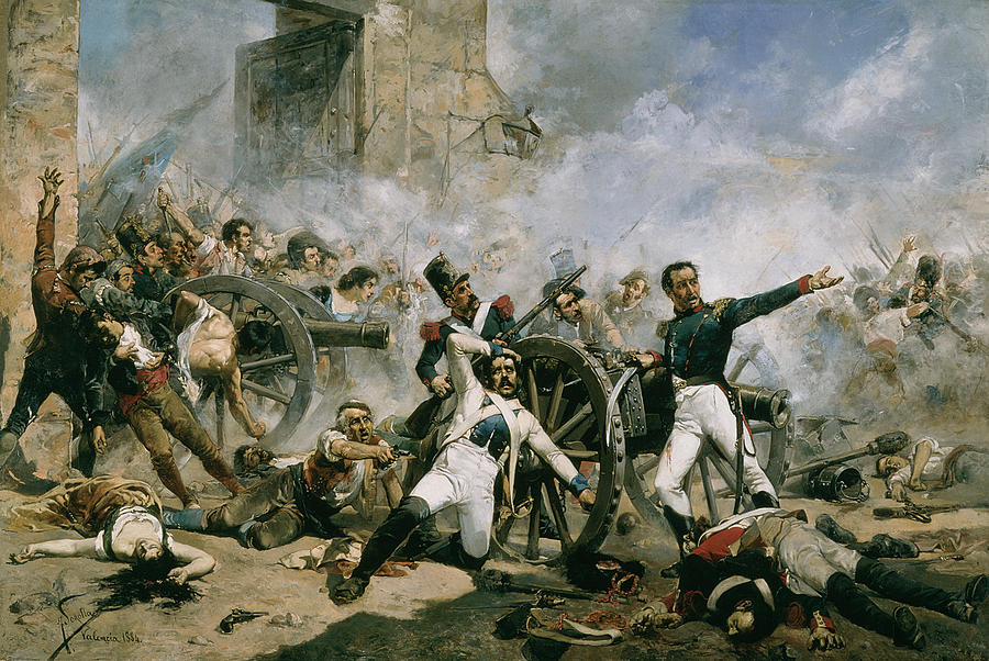 Chaos Painting - Spanish Uprising Against Napoleon In Spain by Joaquin Sorolla y Bastida
