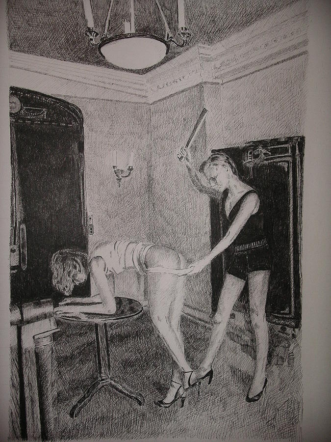 Drawing Painting - Spanking by Kim Philipsen