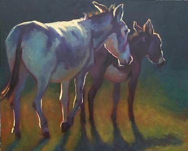 Donkey Painting - Spanky And Don Quixote by Cheri Christensen