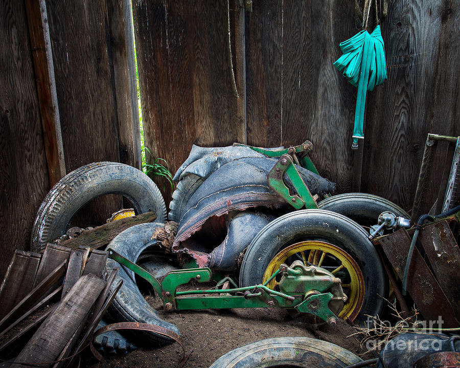 Old Photograph - Spare Tires A-plenty by Royce Howland