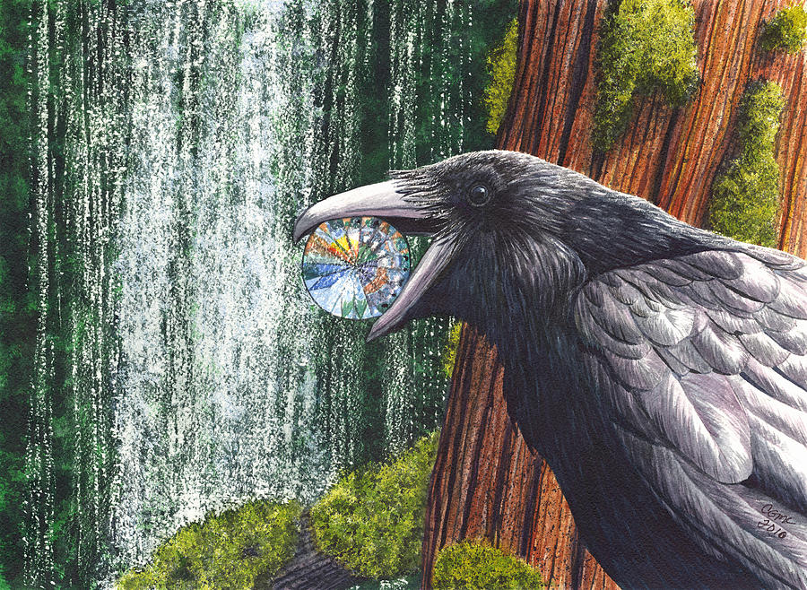 Raven Painting - Sparkle by Catherine G McElroy