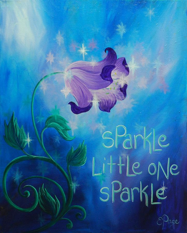 Twinkle Painting - Sparkle, Little One by Emily Page