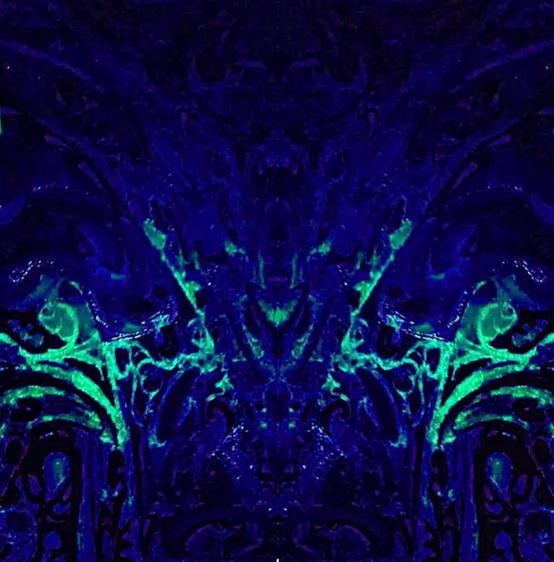 Abstract Digital Art - Sparkly Blues In. A by Jason Manuel