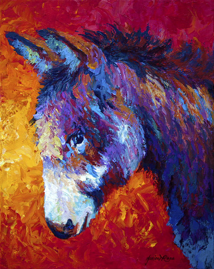 Burro Painting - Sparky by Marion Rose