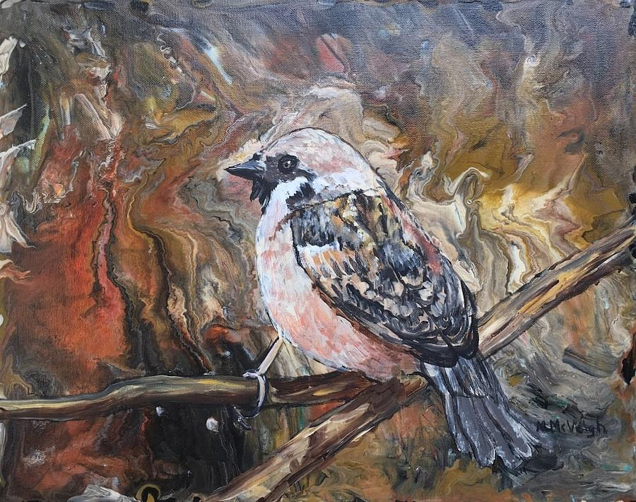 Abstract Painting - Sparrow by Marita McVeigh