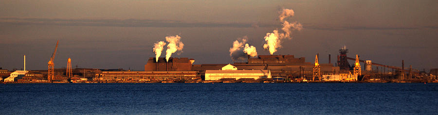 Steel Mill Photograph - Sparrows Point Steel Mill Maryland  by Wayne Higgs