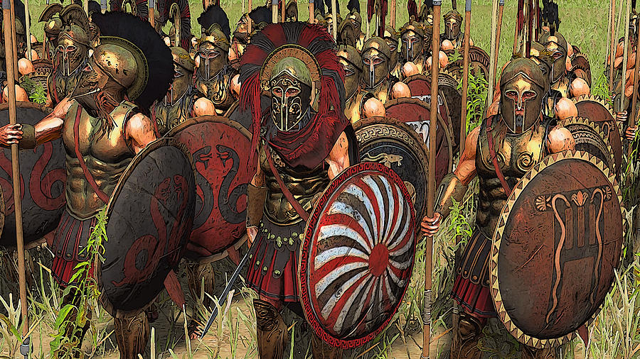 Spartan Warriors Before The Battle Painting by Andrea ...