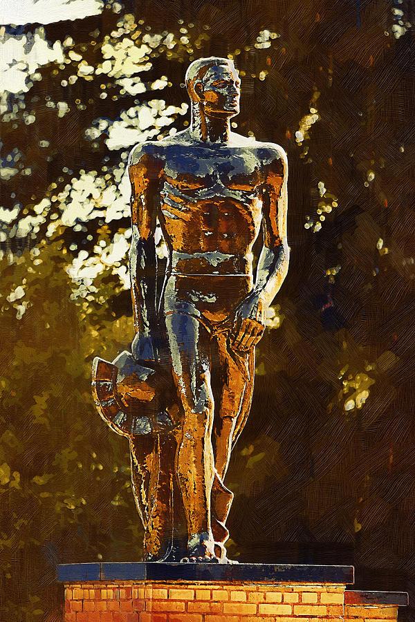 East Lansing Digital Art - Sparty by Paul Bartoszek