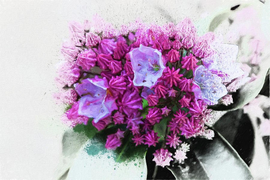 Spatter Painted Flowers Photograph