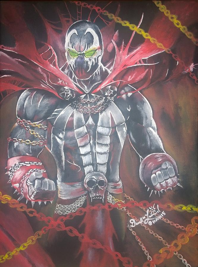 Comic Book Character Painting - Spawn by Darrell Lormand