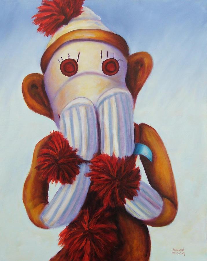 Children Painting - Speak No Bad Stuff Sock Monkey by Shannon Grissom