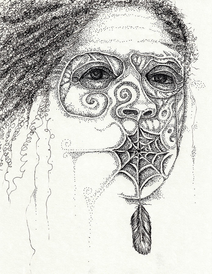 Speak No Evil Drawing by Cora Marshall