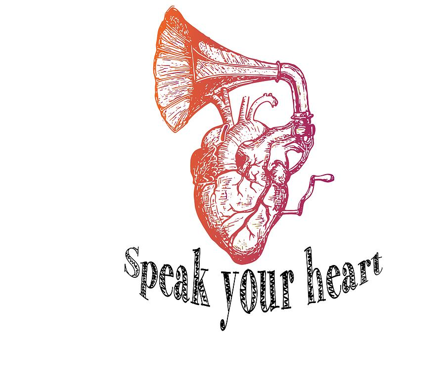 Speak Your Heart Out Drawing by Kabir